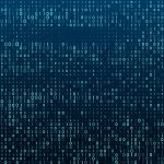 Binary matrix code going through data encryption